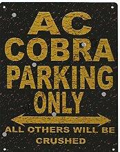 AC COBRA PARKING Rustikaler Stil den großen 30,5x 40,6cm 30x 40cm Auto Schuppen Dose Garage Werkstatt Art Wand Spiele Raum