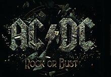 AC/DC Frühstücksbrettchen, Kunststoff, schwarz