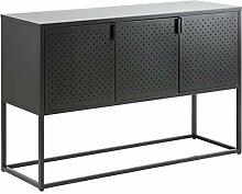 AC Design Nino Anrichte, schwarz, Metall, B: 120 x