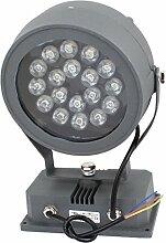 AC85-245V 18W runde LED-Rasen-Garten-Flut-Licht-warmes Weiß-Scheinwerfer
