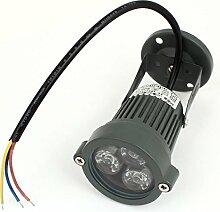 AC85-245V 3W 3-LED-Blaulicht-Brücke Baum-Garten-Scheinwerfer-Flut-Lampe