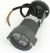 AC85-245V 3W 3-LED-grünes Licht Brücke Baum-Garten-Scheinwerfer-Flut-Lampe