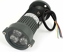 AC85-245V 3W Pure White LED Aluminium Shell-Garten-Scheinwerfer-Flut-Lampe