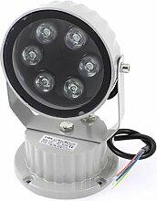 AC85-245V 6W runde LED-Gebäude Garten Flood Spotlight Green Ligh