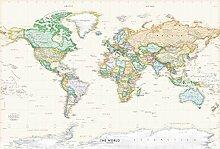 Academia Maps Wandaufkleber Weltkarte Weltkarte