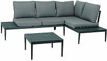 acamp swan Lounge Set 3-teilig Gartenmöbel,