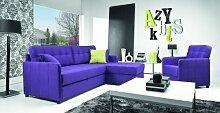 Acapulco-1  Design Luxus Lounge Sofa Landschaft Couch Polster Garnitur Stoff Blau SL21 NEU!
