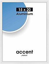 Accent Weiss glanz 15x20