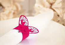 Accessoires - 3D Papier-Serviettenring Herz mit