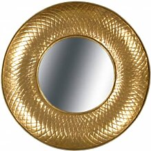 Accessoires - Metall Wandspiegel Cleo 290 Gold