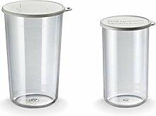 Accessoires pour Mixeur plongeant Bamix - Set de 2 gobelets : 400 ml et 600 ml