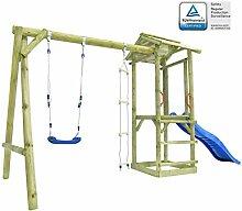 ACCEWIT Spielturm mit Leiter Rutsche Schaukel 400