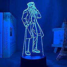Ace Attorney Miles Edgeworth 3D Lampe Nachtlicht