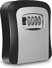 Acelink Schlüsseltresor Schlüsselsafe zur Wandmontage mit 4-stelligem Zahlencode, großer Stauraum Schlüsselbox für Ihr Zuhause, Büros und Garagen [schwere Qualität]