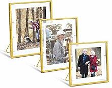 AceList Glänzendes Gold-Bilderrahmen-Set, Set mit