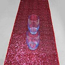 ACHICOO Pailletten Tischläufer Shiny Luxury Style
