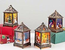 AchidistviQ Weihnachtskerze mit Tee licht Kerzen