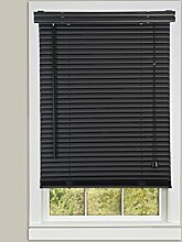 Achim Home Furnishings 1 Breite Fenster Jalousien, schwarz, 27-inch Wide x 64-inch Long