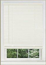 Achim Home Furnishings 1Breite Fenster Jalousien, weiß, 25-inch Wide x 64-inch Long