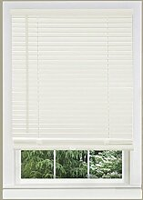 Achim Home Furnishings 1Breite Fenster Jalousien, weiß, 31-inch Wide x 64-inch Long