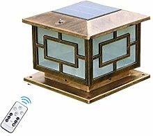 ACHNC LED Außenleuchte Pollerleuchte Solar,Braun