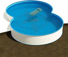 Achtform Pool 3,60 x 5,25 x 1,35 m, Folie 0,8 mm