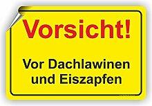 ACHTUNG DACHLAWINEN - Winterdienstschilder / WI-003 (30x20cm Aufkleber)
