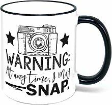 ACHTUNG jederzeit I May Snap Kaffee Tasse