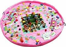 achun Organizer homecube Large 149,9cm Durchmesser Baby Kinder spielen Fußmatte Spielzeug Aufbewahrungstasche–Pink