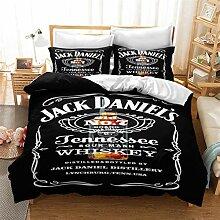 ACJIA Jack Daniels Bettwäsche, Englisch Alphabet
