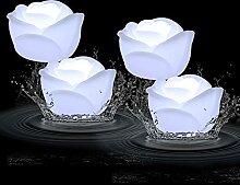 Acmee LED-Wasser-Rosenkerze, flammenlos, Wachs,