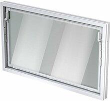ACO 100cm Nebenraumfenster Kippfenster Einfachglas Fenster weiß Kellerfenster, Größe Kippfenster:100 x 60 cm