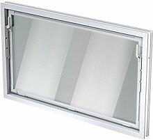 ACO 100cm Nebenraumfenster Kippfenster Isoglasfenster Fenster weiß Kellerfenster, Größe Kippfenster:100 x 80 cm