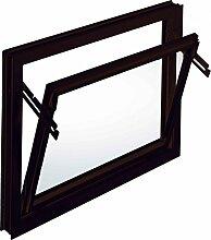 ACO 60cm Nebenraumfenster Kippfenster Isoglasfenster Fenster braun Kellerfenster, Größe Kippfenster:60 x 50 cm