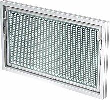 ACO 60x40cm Nebenraumfenster Einfachglas + Schutzgitter Kippfenster Fenster weiß