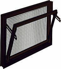 ACO 80x40cm Nebenraumfenster Einfachglas +Schutzgitter Kippfenster Fenster braun