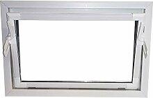 ACO Nebenraum-Kippfenster 100x70 weiss Isolierglas