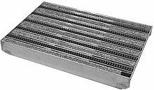 ACO Schuhabstreifer Bürsten + Rips mit ALU Bodenwanne Fußabtreter Schmutzfangmatte grau, Größe:750 x 500 mm