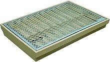 ACO Self Standard-Schuhabstreifer 60x40 cm mit Streckmetall-Rost Bodenwanne samt Gitterrost für außen