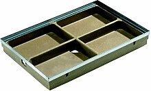 ACO Vario Schuhabstreifer Unterteil 60x40 cm mit Kantenschutz Bodenwanne für ACO Fußabstreifer-Matte für außen