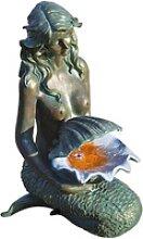 Acqua Arte Wasserspiel Oslo in Bronzeoptik mit
