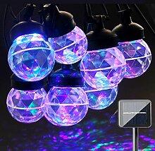 ACRATO Projektionslampe LED Projektor Weihnachten Lampe Solar Lichterkette mit 8 LED Kugellampe Wasserdicht für Outdoor Party Innen Haus Dekoration Hochzeit Weihnachten usw. Bun