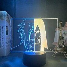 Acryl 3d Lampe Naruto Nachtlicht Dekoration für
