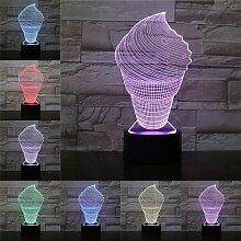 Acryl 7 Farbwechsel 3D-Lampe LED-Lampe Nachtlicht