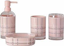 Acryl Badezimmer Set Geschenkbox Einfuhren im europäischen Stil mit englischen Wash Kit, Pink