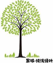 Acryl der immergrüne Baum von 3D Acryl dreidimensionale Wandaufklebern Wohnzimmer Sofa restaurant Eingangsbereich kindergarten TV Hintergrund Dekoration, schwarzen Zweig - volles Licht grünes Blatt, Große