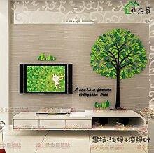 Acryl der immergrüne Baum von 3D Acryl dreidimensionale Wandaufklebern sofa Restaurant Eingang Wohnzimmer Flur kindergarten TV Hintergrund Dekoration, schwarz-grün dunkel grüne Zweige, Klein