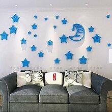 Acryl Der Mond und die Sterne in dem Zimmer, in