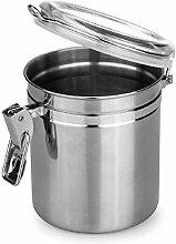 Acryl Edelstahl versiegelt luftdicht Kanister Zucker Biscuit Snack Tee Container Home Küche Dry Food Container, No.1