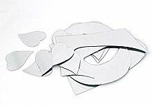 Acryl LIEBE Herzen Design DIY Spiegeleffekt